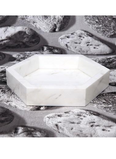 3Wdesign El Yapımı Mermer Orta Sunumluk Beyaz